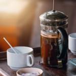 お得なランチメニューでもご注文いただける珈琲の「フレンチプレス」新鮮なコーヒーオイルがたっぷりとれちゃいます!!